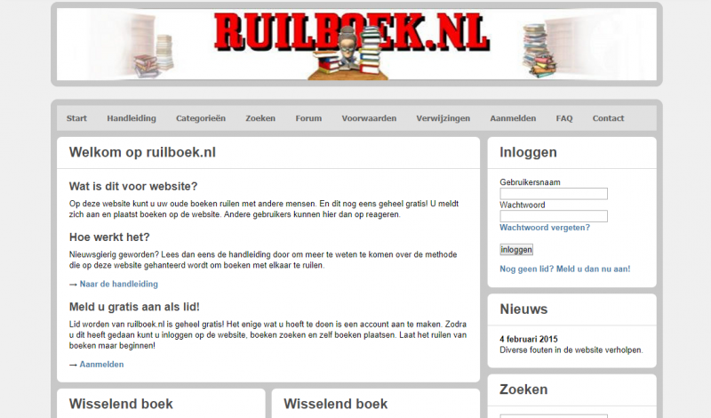 De oude website